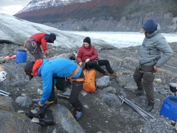 preparing for Glacia walk